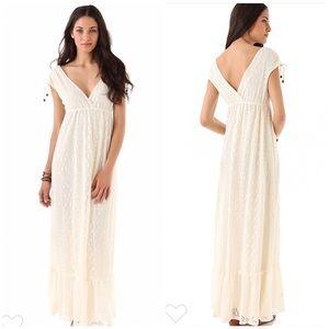 Ella Moss Senorita Cream Boho Lace Maxi Dress NEW